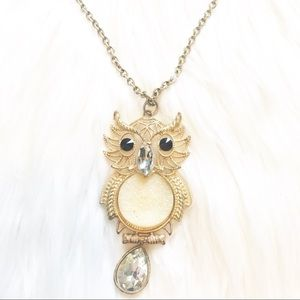 Long Gold Owl Necklace